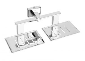 Stainlee-Steel-AISI-304-Chrome-Plated-Double-Soap-Dish-Twin-Soap-Dish-SA-209.