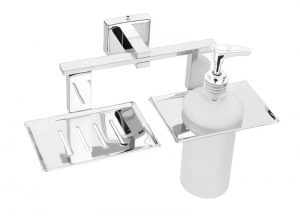 Stainless-Steel-AISI-304-Chrome-Plated-Soap-Dish-with-Liquid-Dispenser-SA-211