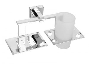 Stainless-Steel-Chrome-Plated-AISI-304-Soap-Dish-With-Tumbler-Holder-SA-210