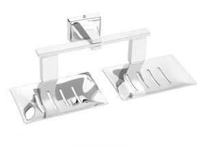 Stainless-Steel-AISI-304-Chrome-Plated-Double-Soap-Dish-Twin-Soap-Dish-SD-309