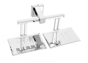 Stainless-Steel-AISI-304-Chrome-Plated-Double-Soap-Holder-Dish-Twin-Soap-Dish-Holder-SG-709