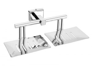 Stainless-Steel-AISI-304-Chrome-Plated-Double-Soap-Holder-Dish-Twin-Soap-Dish-Holder-SI-609