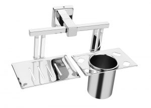 Stainless-Steel-AISI-304-Chrome-Plated-Soap-Dish-with-Tumbler-Holder-SG-710