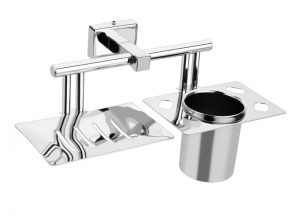 Stainless-Steel-AISI-304-Chrome-Plated-Soap-Dish-with-Tumbler-Holder-SI-610