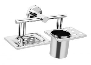 Stainless-Steel-AISI-304-Chrome-Plated-Soap-Dish-with-Tumbler-Holder-SM-510