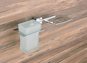 Brass-Chrome-Plated-Soap-Dish-With-Tumbler-Holder-MB-111