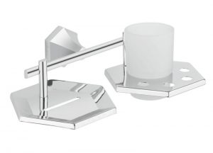 Brass-Chrome-Plated-Soap-Dish-With-Tumbler-Holder-PT-313