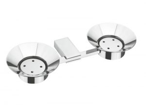 Stainless-Steel-AISI-304-Grade-Chrome-Plated-Double-Soap-Dish-Twin-Soap-Dish-Holder-PC-612